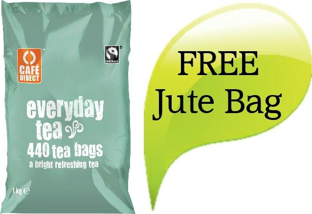 Fairtrade CafeDirect Teabags - FREE Jute Bag