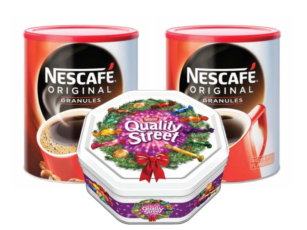 Nescafe Original 750g x2 - FREE Quality Street