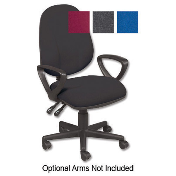 Trexus Intro High Back Permanent Contact Chair Seat W490xd450xh440 560mm Back H490mm Charcoal