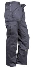 Portwest Action Trousers Polycotton Reinforced Multiple-pockets Regular 38in Black Ref S887REGBlack38