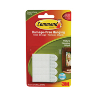 3M Command Small Picture Hanging Strips Pk4 17202