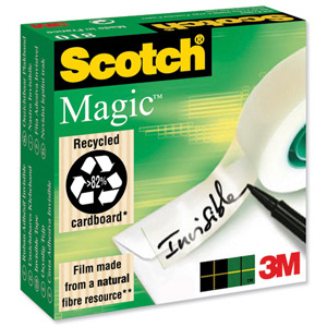 SCOTCH 810 MAGIC TAPE 19mm x 33m - ORDER 12 ROLLS OR MORE FOR BULK DISCOUNT!!