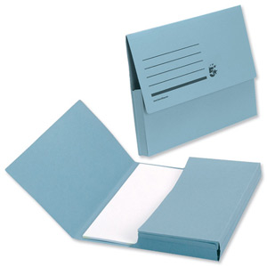 DOCUMENT WALLETS F/SCAP BLUE (box 50)