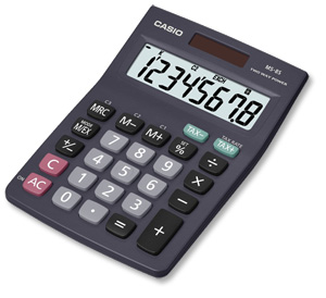 CASIO MS8V DESKTOP CALCULATOR
