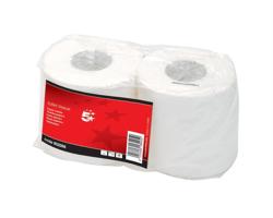 5 Star Toilet Tissue 2 Rolls of 320 Sheets White [Pack 36]