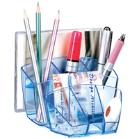 CEP Ice Blue Desk Tidy with 40 Pen Capacity (Blue)