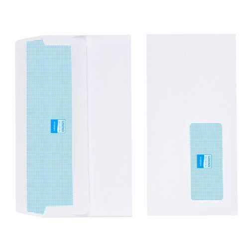 Initiative Envelope DL Self Seal Window Banker White 80gsm Pack 1000
