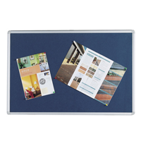 Q-Connect Notice Board 900 x 600mm Aluminium Frame Blue 9700028
