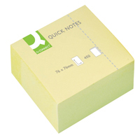 Q-Connect Quick Note Cube 76x76mm Yellow