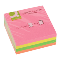 Q-Connect Quick Note Cube 76x76mm Neon