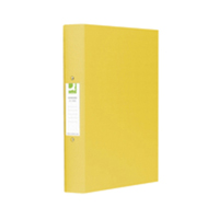 Q-Connect 2-Ring Binder A4 25mm Polypropylene Yellow KF01472