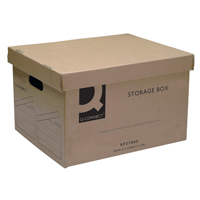 Q-Connect Brown Storage Box 335x400x250mm (Pk 10) KF21665