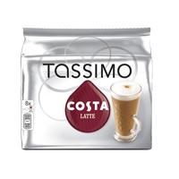 Tassimo Costa Latte Coffee 8x 239.2g Capsules Pk 5 343365