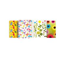 Silvine A4 Summer Garden Wirebound Notebooks Pk4 TWA4SG