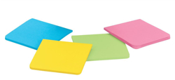 Post-it Super Sticky Full Adhesive Notes Pad 76x76mm Assorted Ref F330-4SSAU [Pack 4]