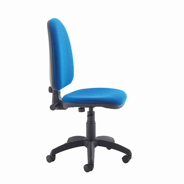 Cobalt High Back Operators Chair  - twin lever on castors - with no arms