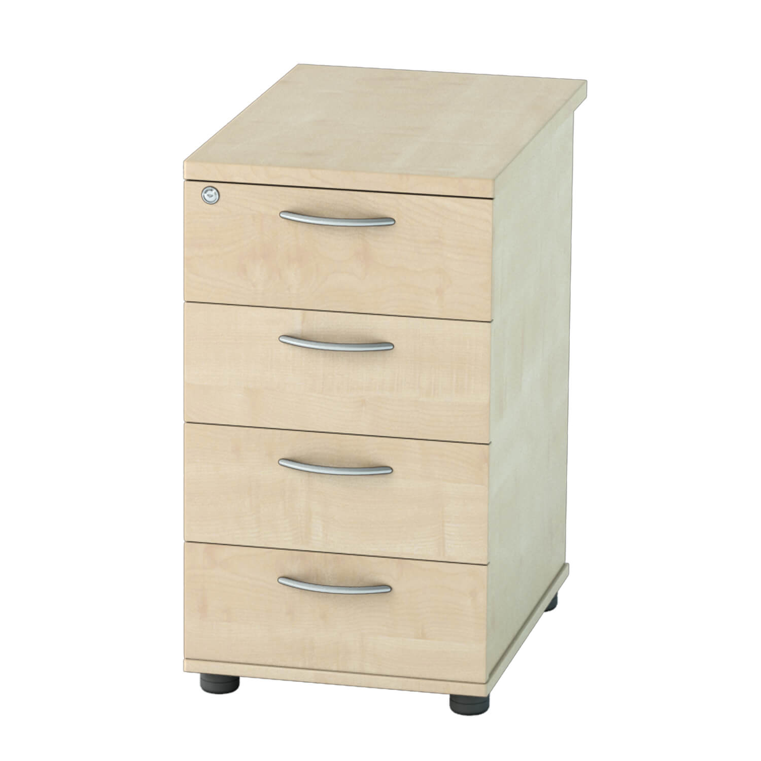 DH Pedestal 4 drawer Maple