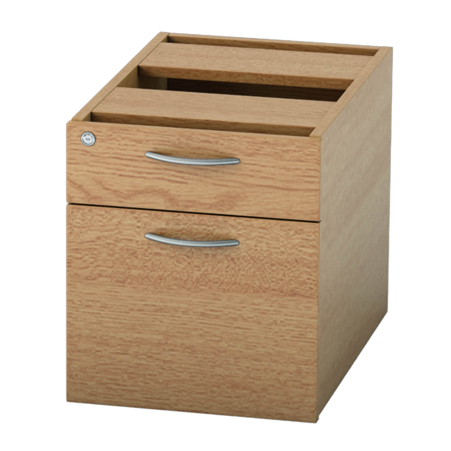 Pedestal 2 drawer Light Oak