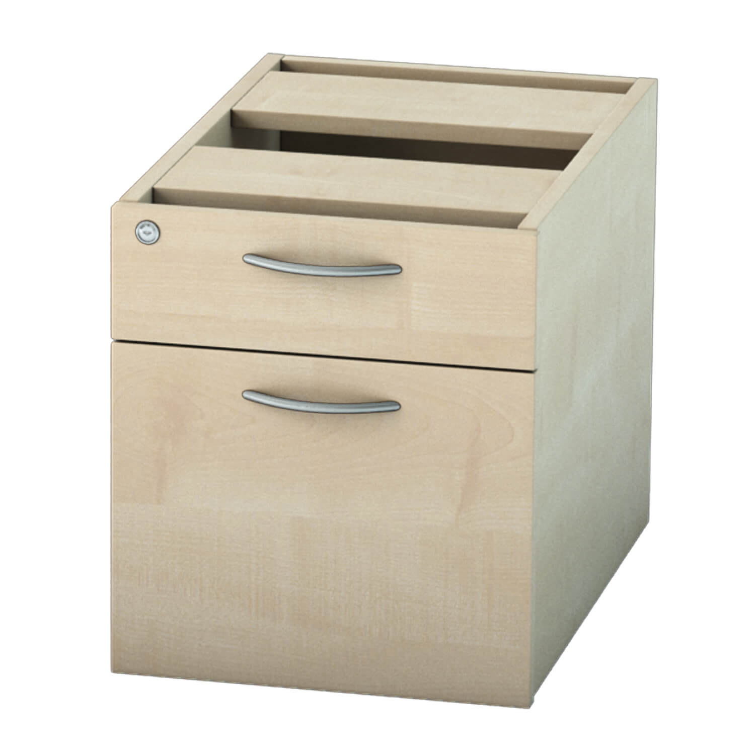 Pedestal 2 drawer Maple