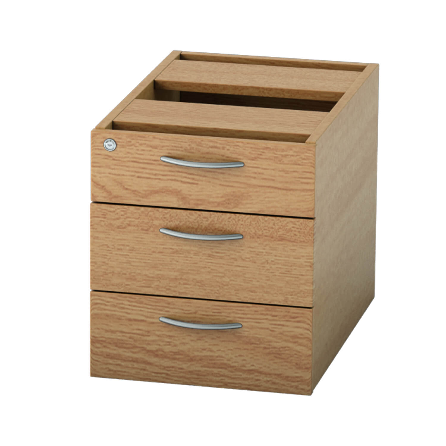 Pedestal 3 drawer Light Oak