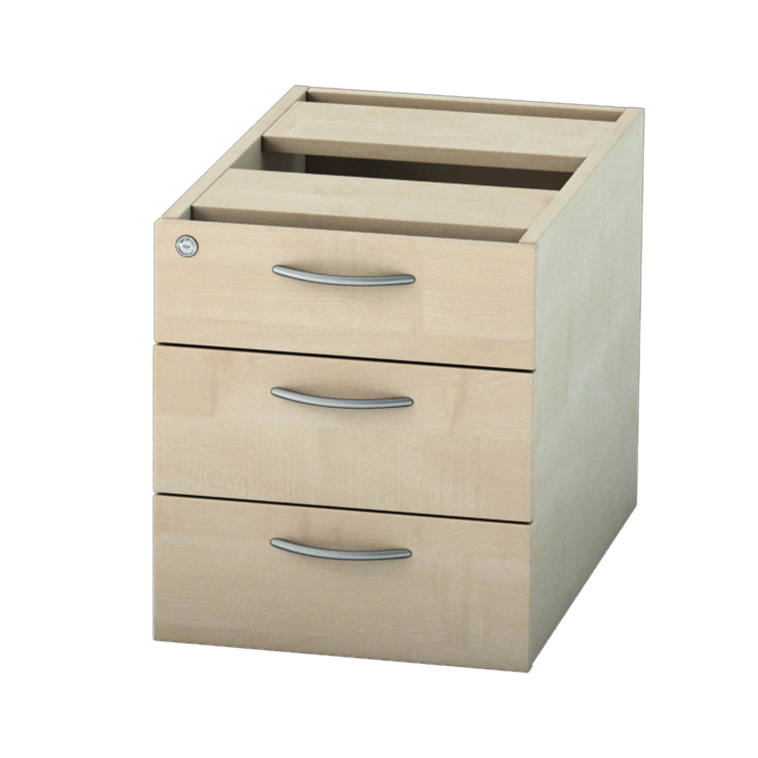 Pedestal 3 drawer Maple