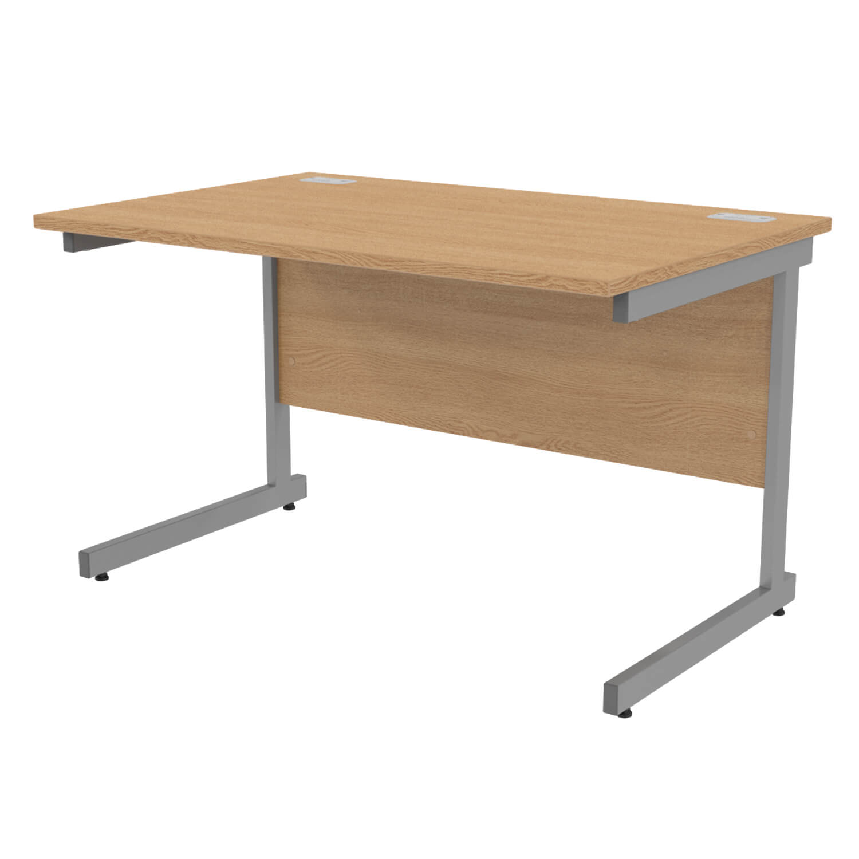 1200 Workstation Cant Light Oak