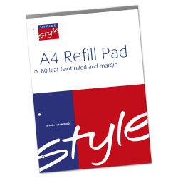 O/Style Refill Pad A4 Feint&Margin 160pg
