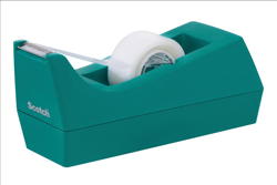 Scotch Magic Tape C38 Dispenser Complete With 1 Roll Tape Turquoise Ref C38TURQUOISE