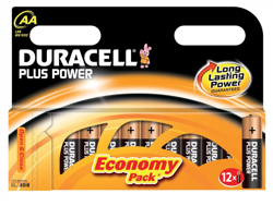 Duracell Plus Power Battery Alkaline AA Ref AADURB12C [Pack 12]