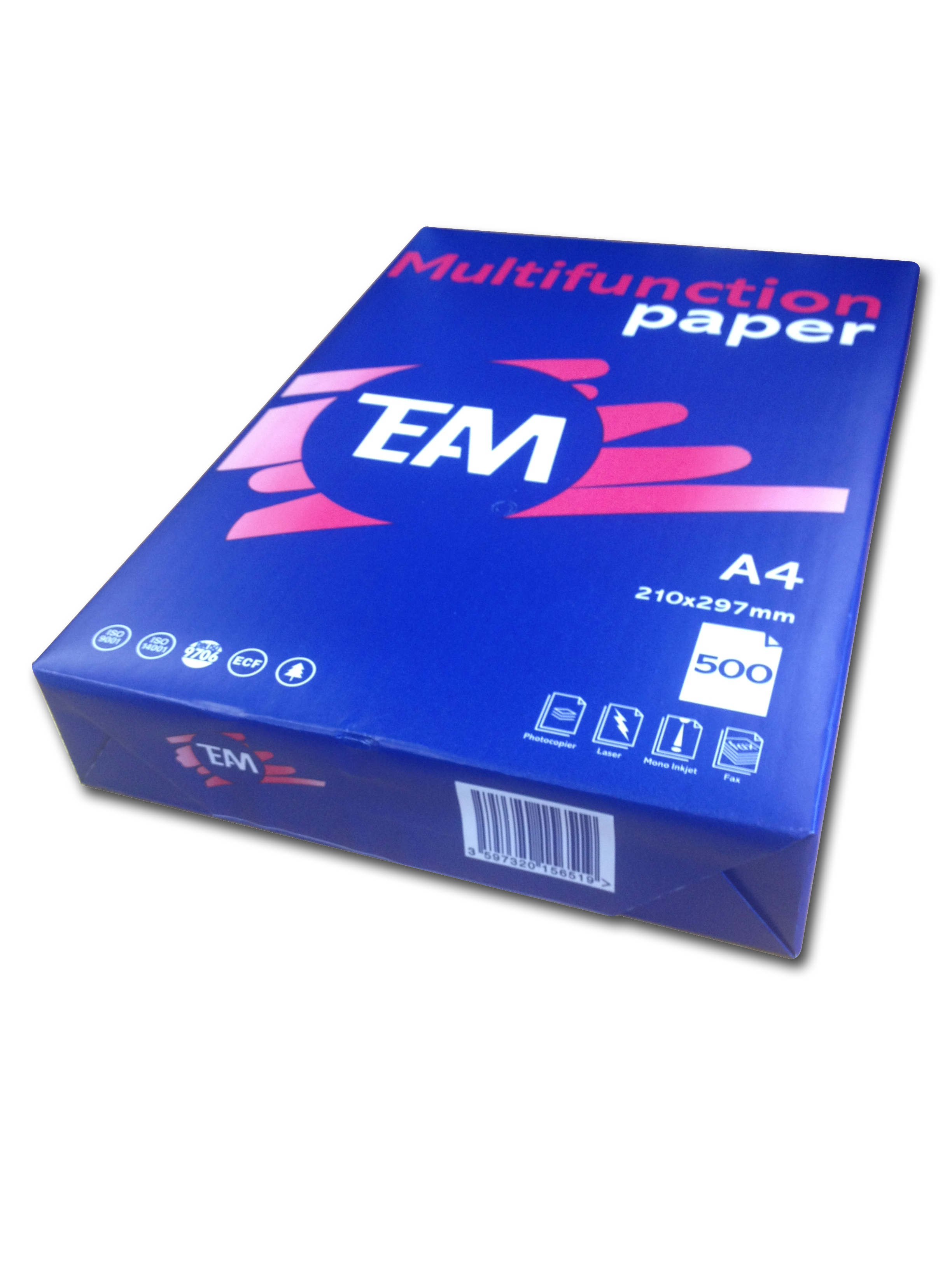 Team Economy Copier Paper A4 210x297mm Packed 500