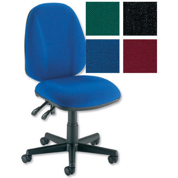 Trexus Intro High Back Permanent Contact Chair Seat W490xD450xH440-560mm Back H490mm Royal Blue
