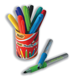 BIC Permanent Markers Colour Collection Non-toxic 0.8-1.8mm Line Assorted Ref 84392 [Pot of 10]