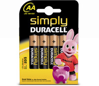 Duracell Simply Battery Pk 4 AA 81235210