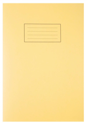 Silvine Exercise Book Ruled and Margin 80 Pages A4 Yellow Ref EX109 [Pack 10]