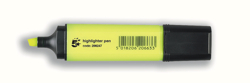5 Star Highlighters Chisel Tip 1-5mm Line Yellow [Pack 12]
