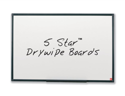 5 Star Drywipe Board Lightweight with Fixing Kit and Detachable Pen Tray W900xH600mm