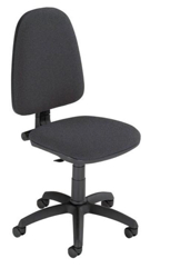 Trexus Office Operator Chair Permanent Contact High Back H500mm W460xD430xH460-580mm Charcoal