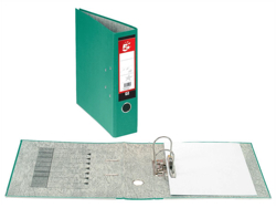 5 Star Lever Arch File 70mm Spine A4 Green [Pack 10]