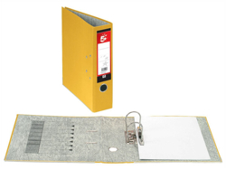 5 Star Lever Arch File 70mm Spine A4 Yellow [Pack 10]