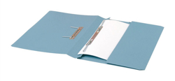5 Star Transfer Spring File with Pocket 285gsm 38mm Foolscap Blue [Pack 25]