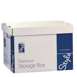 O/Style Storage Box Wht/Red 384x320x287