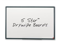 5 Star Drywipe Board Lightweight with Fixing Kit and Detachable Pen Tray W600xH450mm