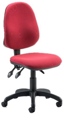 Eclipse III Lever Task Operator Chair Wine Without Arms