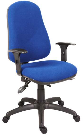 Teknik Office Ergo Comfort Black Fabric High Back Executive Operator Chair Comfort Arm Rests Optional