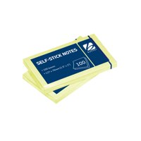 Banner Self Stick Repositional Notes 76x127mm Yellow 100 Sheets Per Pad Ref 9095005
