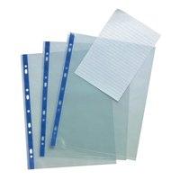 Banner Polypropylene Multi Punched Pockets A4 Open Top Orange Peel Blue Strip 75mu Ref 9410413 Pk 25