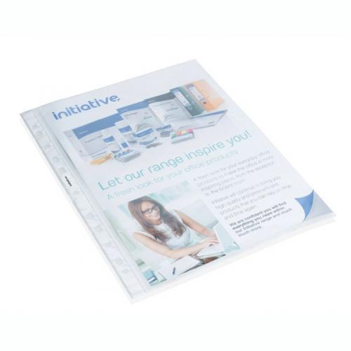 Initiative A4 Clear Plastic Pocket Pk100