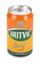 Britvic Orange Juice Can 330ml (24)