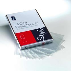 Style Optima Plastic Pocket A4 Clr (100)