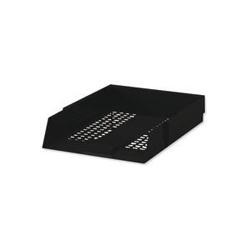 White Box Letter Tray Black